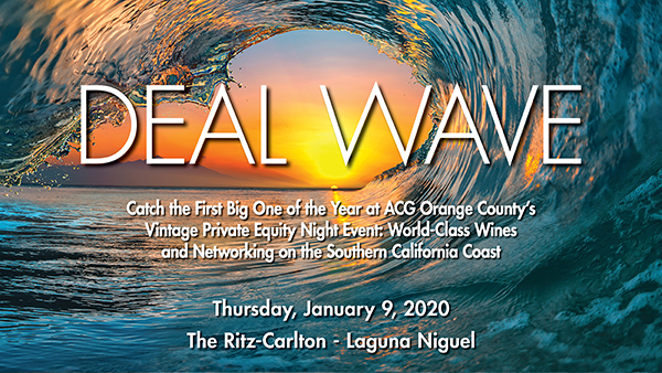 Events In Orange County January 2020.Acg Oc 18th Annual Private Equity Marketplace Deal Flow