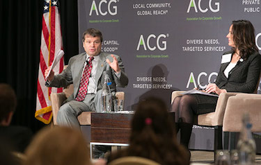 Panelists speaking at an ACG event