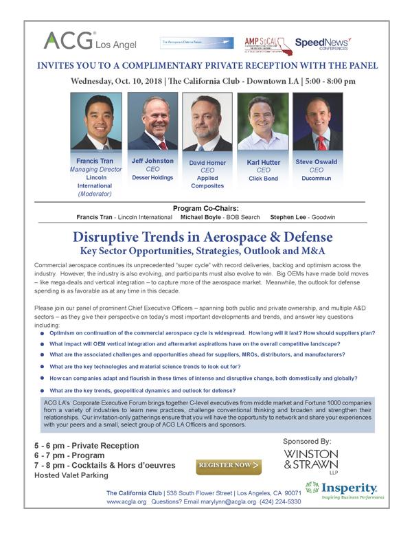 Corporate Executive Forum Cef Acg Los Angeles