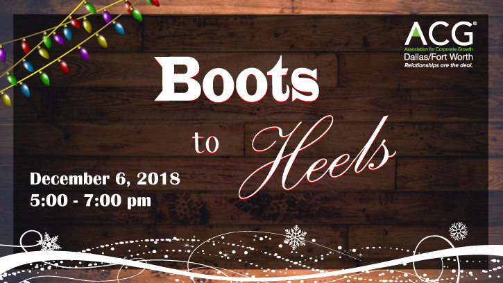 2018 Boots to Heels presented by Women in ACG DFW
