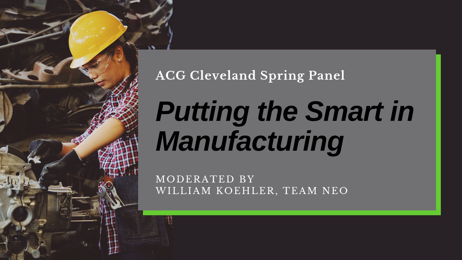 Putting the Smart in Manufacturing