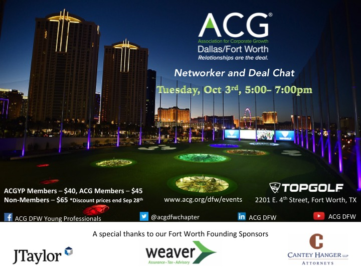 Acg Dealmakers Networker And Deal Chat Acg Dallas Fort Worth