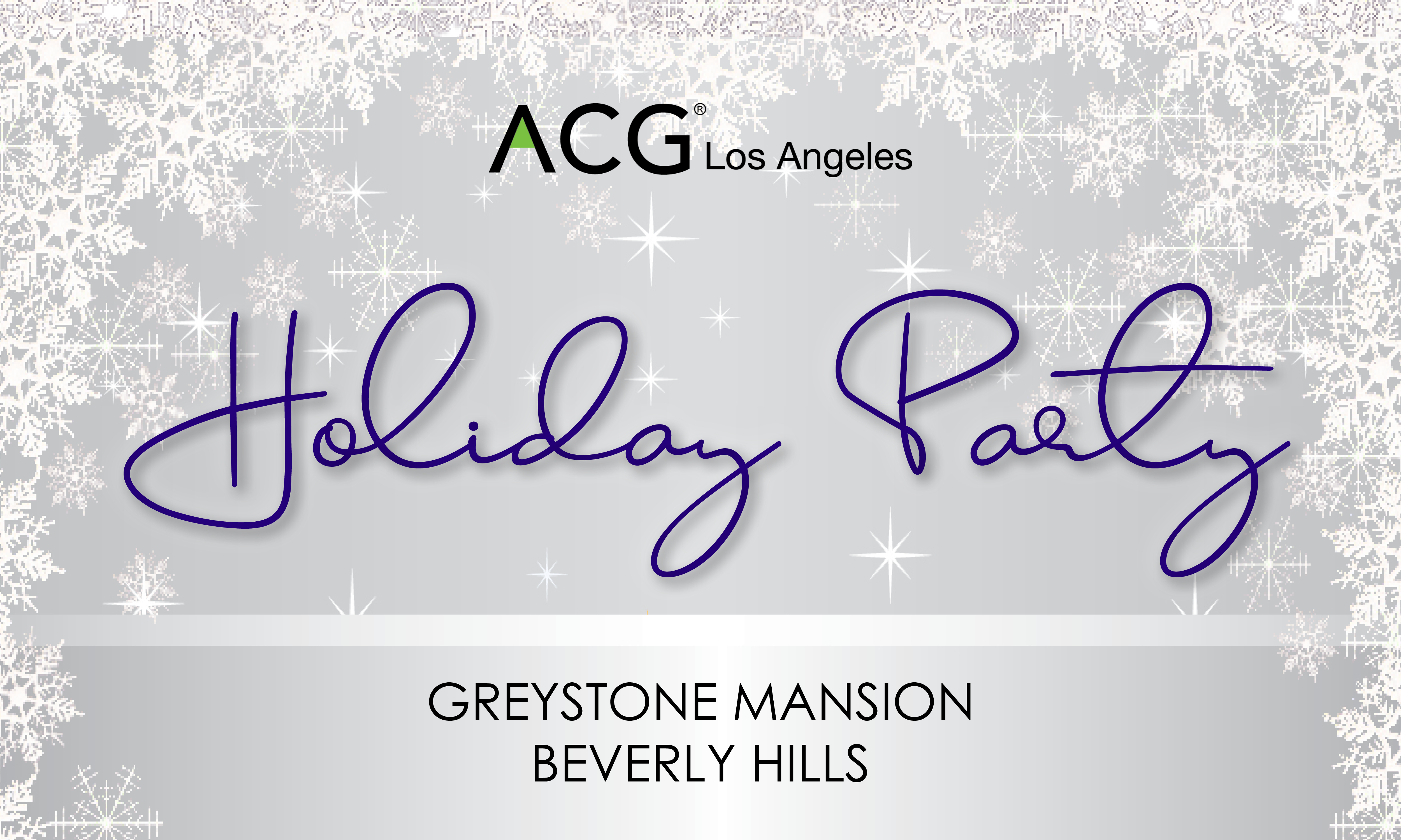 ACGLA Holiday Party at Greystone Mansion 12-5-2018