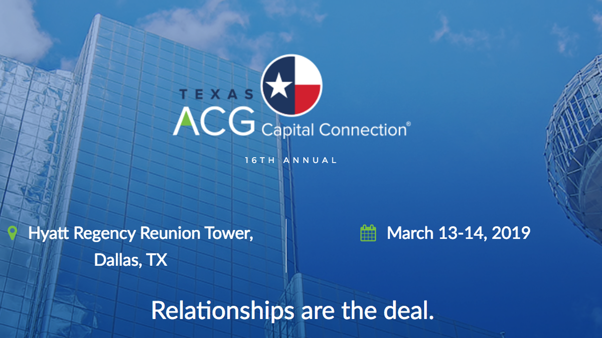 2019 Texas ACG Capital Connection
