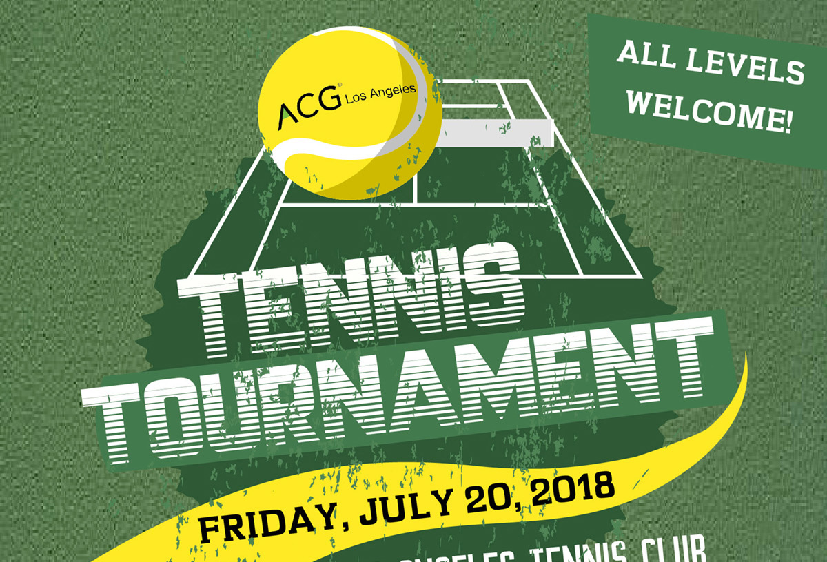 Tennis Tournament July 20th Friday LA Tennis Club