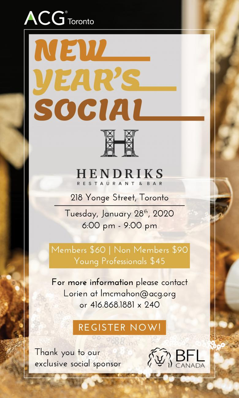 ACG Toronto New Year Social | Cedar Croft Consulting