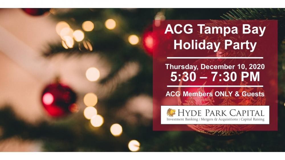 Christmas Events In Tampa Bay 2020 ACG Tampa Bay 2020 Members Only Holiday Party   ACG Tampa Bay