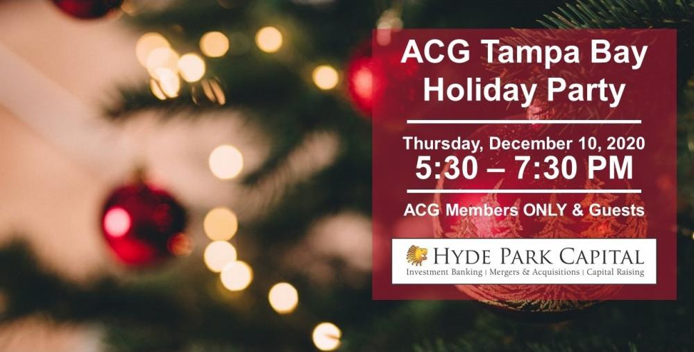 Christmas Events In Tampa Bay 2020 ACG Tampa Bay 2020 Members Only Holiday Party   ACG Florida