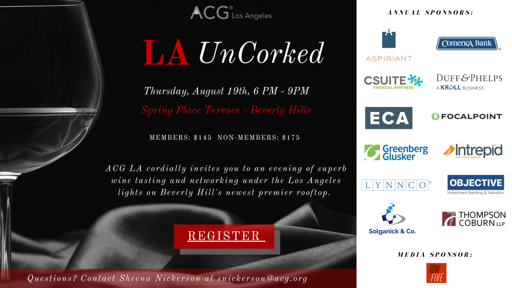 ACG LA LA UnCorked Flyer