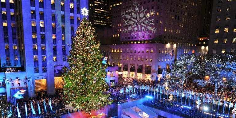 visit the rockefeller tree the day after its been lit more details here