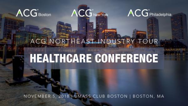 ACG Northeast Industry Tour: Healthcare Conference