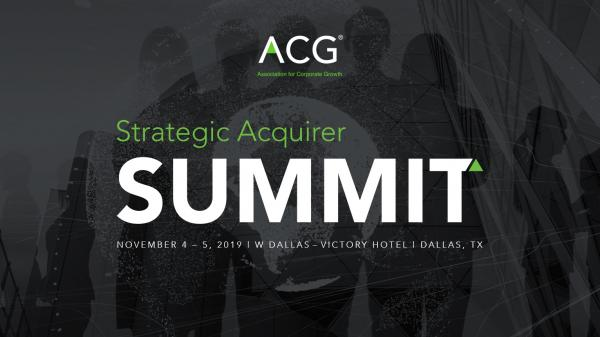 ACG Strategic Acquirer Summit
