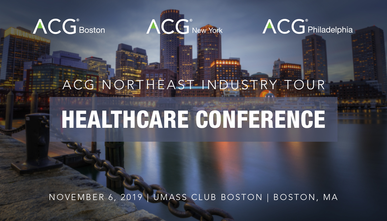 ACG Northeast Industry Tour Healthcare Conference 2019