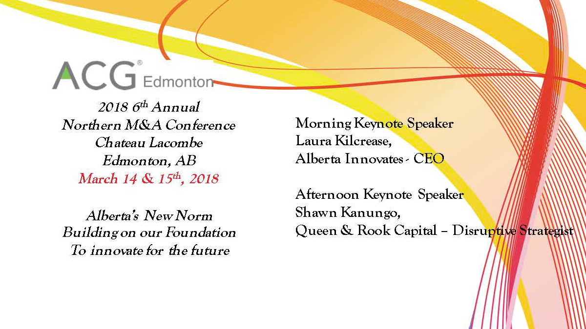 ACG Edmonton Northern M&A Conference